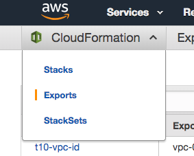 How to share values between seperated AWS CloudFormation